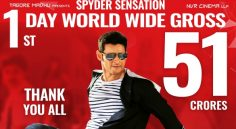 SPYDER 1st Day World Wide Gross