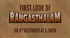 Ramcharan's Rangasthalam First Look to release tomorrow