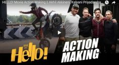 Akhil 'Hello' Action Making Video