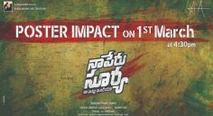 Allu Arjun 'Na Peru Surya' Poster Impact To Release on March 1