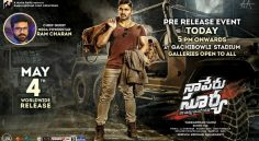 Na Peru Surya Pre Release Event To Be Held In Hyderabad Today