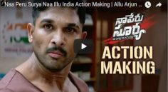 Allu Arjun 'Na Peru Surya' Action Making Video