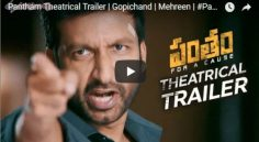 Gopichand 'Pantham' Trailer Is Released