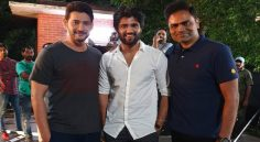 Vijay Deverakonda met Mahesh on Maharshi Movie Sets