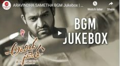 NTR Aravindha Sametha BGM Juke Box Is Released