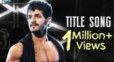 Akhil Mr Majnu Title Track Crossed 1 Million Views