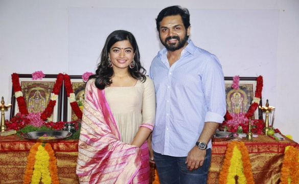 Karthi, Rashmika New Movie Launch