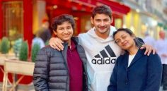 Super Star Mahesh Babu In Paris With Family
