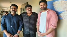 Prabhas to do an interview with Chiranjeevi and Ramcharan