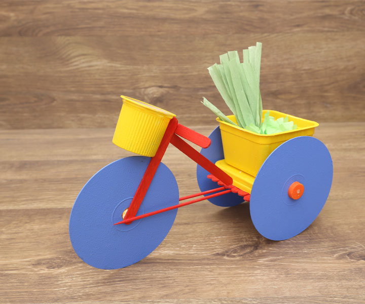 Best Of Waste Craft Ideas For Kids Part - 16: CD Cycle