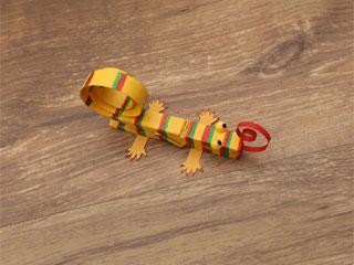 Wooden Clip Chameleon