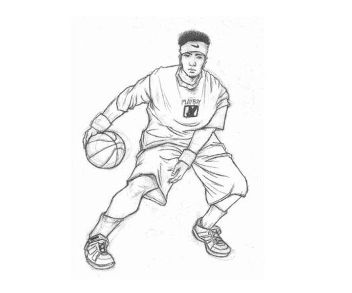 Zeeq Cartoon Characters : Learn how to draw kobe bryant basketball players step by