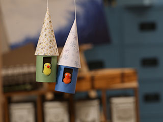 Bird House Dangler