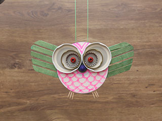 CD Owl Dangler