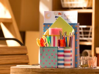 Cereal Box Stationery Holder
