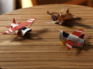 Cardboard Roll Plane