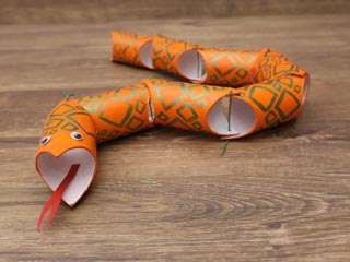 Cardboard Roll Snake