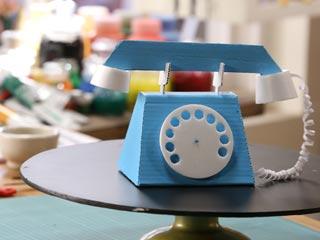 Cardboard Vintage Telephone