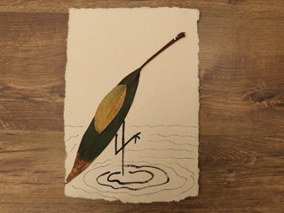 Dried Leaf Art