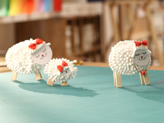 Cotton Bud Sheep