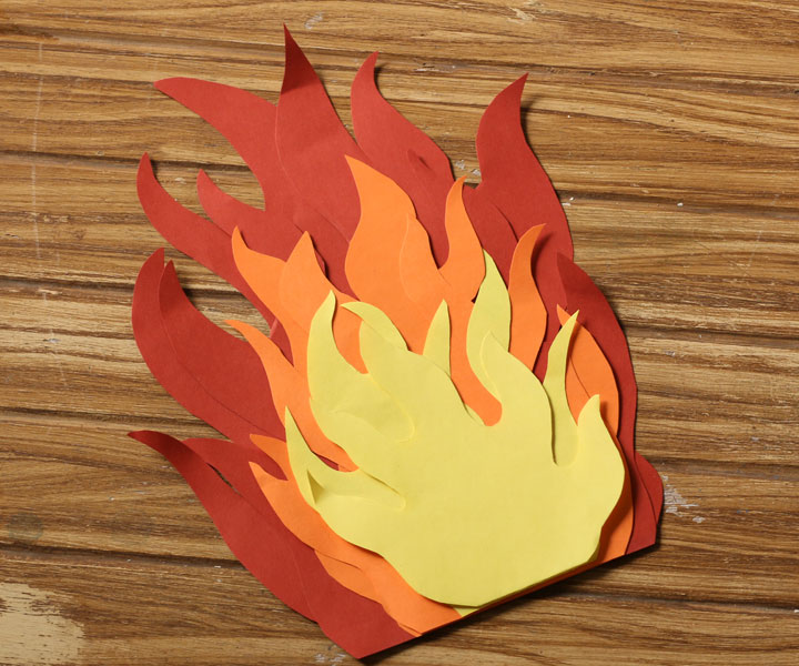 Paper Flames Template Pictures To Pin On Pinterest