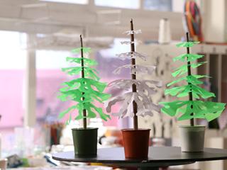 Paper Stencil Tree