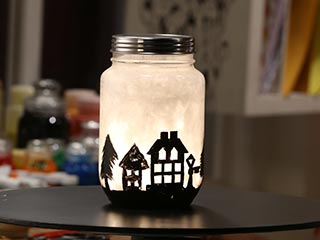 Snow Jar Lamp