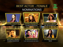 ZCA 2016 - Nominations For Best Actor Female